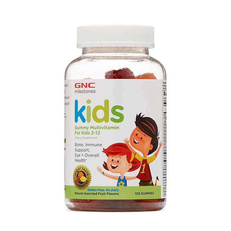 Kids Multivitamin Gummy (120 jeleuri), GNC Milestones