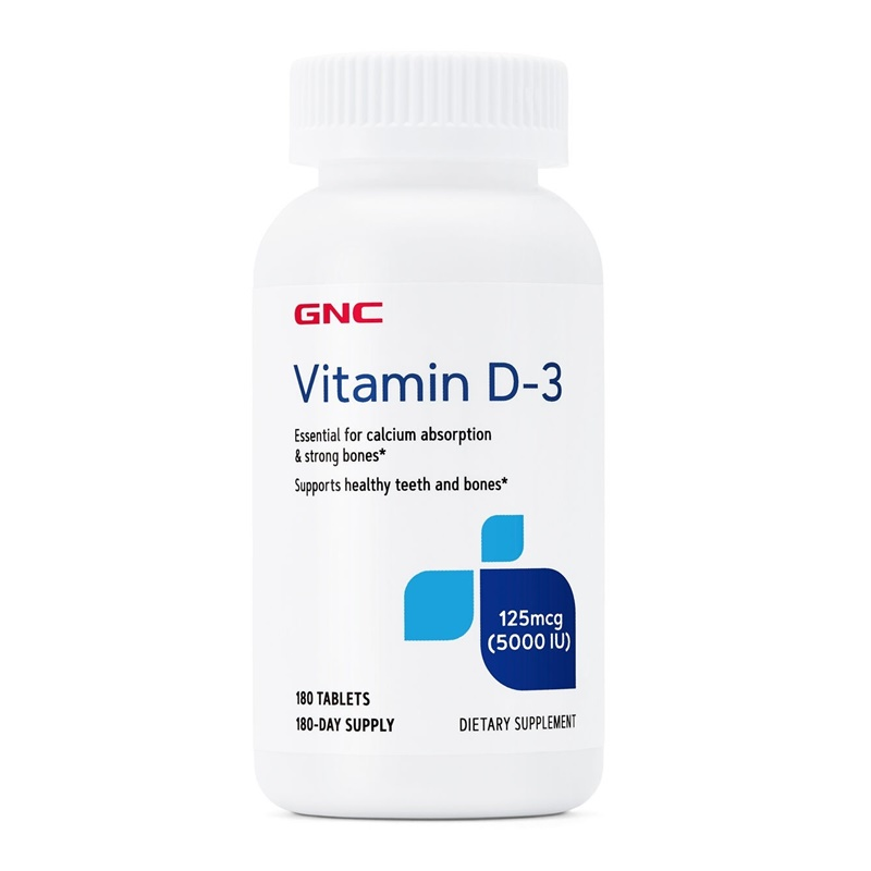 Vitamina D-3 5000 UI (180 tablete), GNC