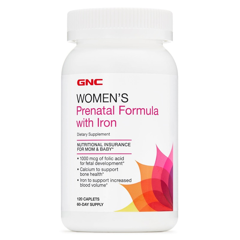 Women's Prenatal Formula with Iron (120 tablete), GNC