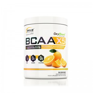 BCAA-X5 cu aroma de portocala (360 grame), Genius Nutrition