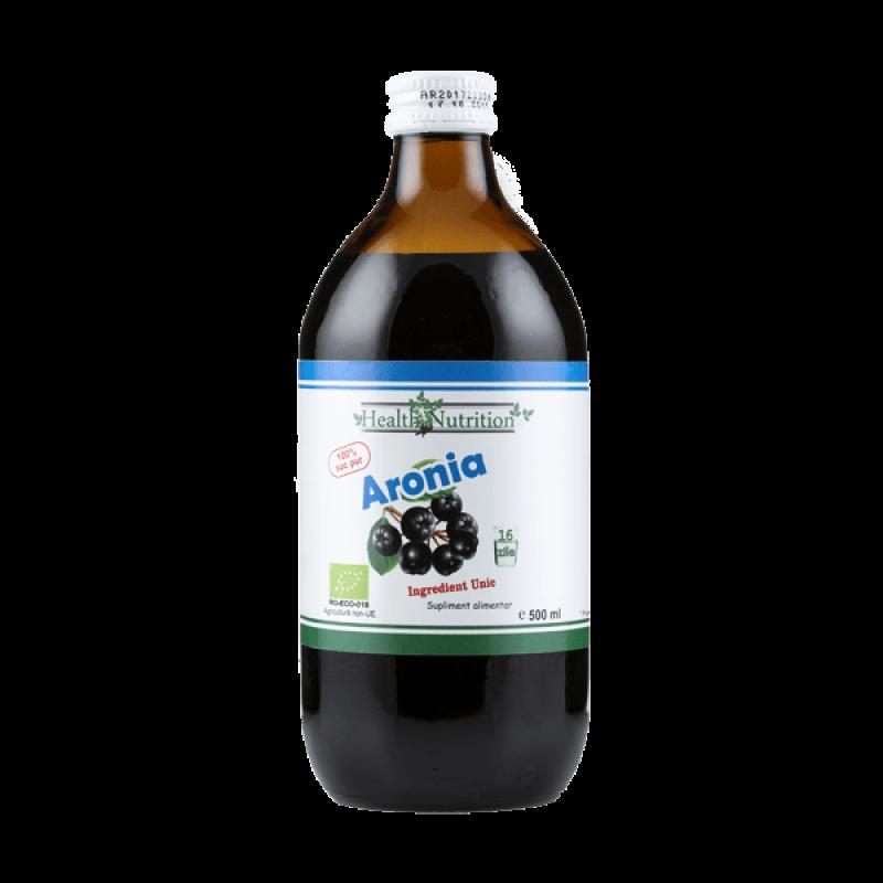 Aronia (Aronia melanocarpa) suc bio 100% pur (500 ml), Health Nutrition