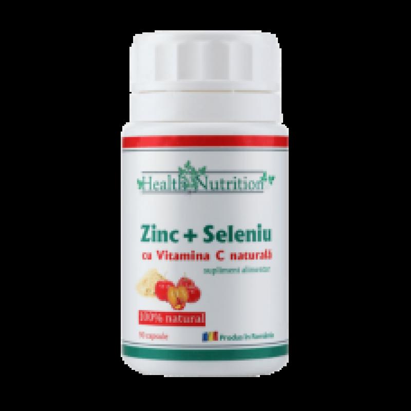 Zinc, Seleniu si Vitamina C (90 capsule), Health Nutrition