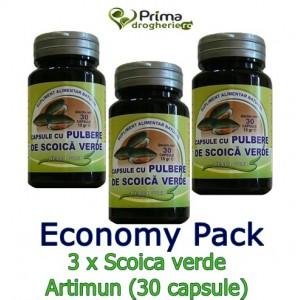 Economy Pack 3 x Scoica Verde ARTIMUN (30 capsule), Herba Vita