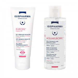 Ruboril Expert M Gel-crema anti-roseata (40 ml) + Ruboril Aquaruboril Solutie micelara demachianta (100 ml), Isispharma