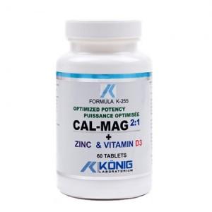 Calciu, Magneziu, Zinc si Vitamina D3 (60 capsule)