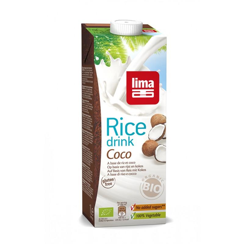 Lapte de orez cu cocos bio (1 L), Lima