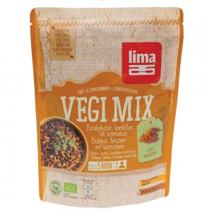 Vegi mix curry, bulgur si linte bio (250 grame), Lima