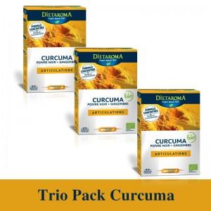 Trio Pack Curcuma ( 3 x 20 fiole buvabile x 10 ml). Dietaroma