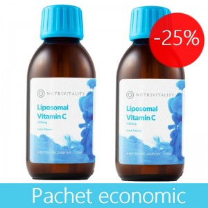 Pachet economic Vitamina C Lipozomala 1000 mg ( 2 x 150 ml), Nutrivitality