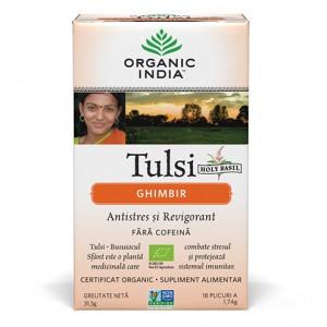 Tulsi Ginger (31,3g, 18 plicuri), Organic India
