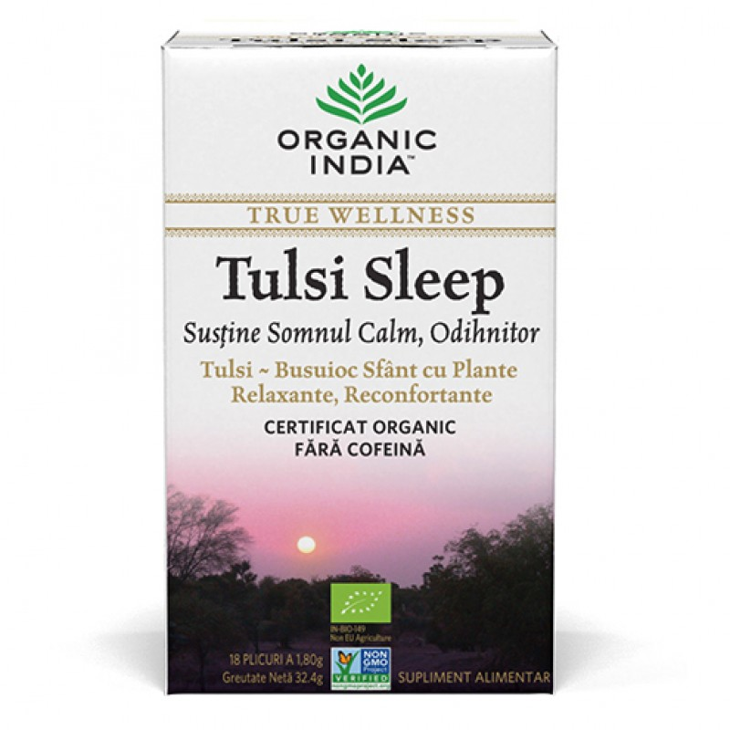 Tulsi Sleep (32,4 grame, 18 plicuri), Organic India