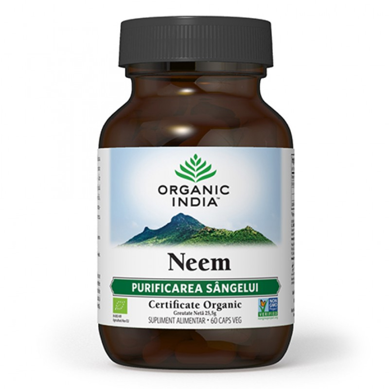 Neem - Antibiotic natural (60 capsule), Organic India