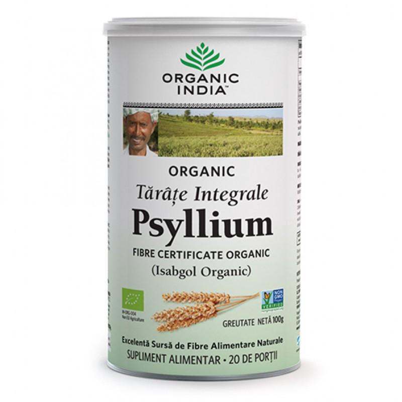 Tarate de Psyllium Integrale (100 grame), Organic India