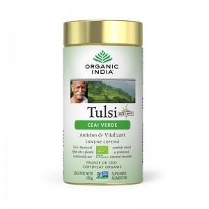 Ceai Tulsi Ceai Verde (100 grame), Organic India