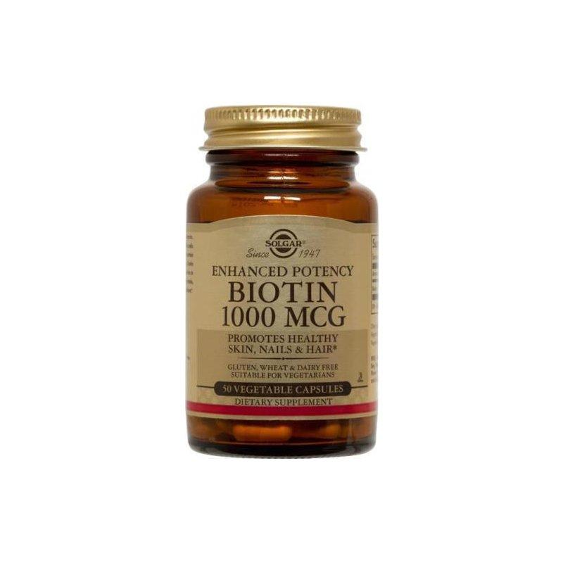 Biotin 1000mcg (50 capsule) Solgar