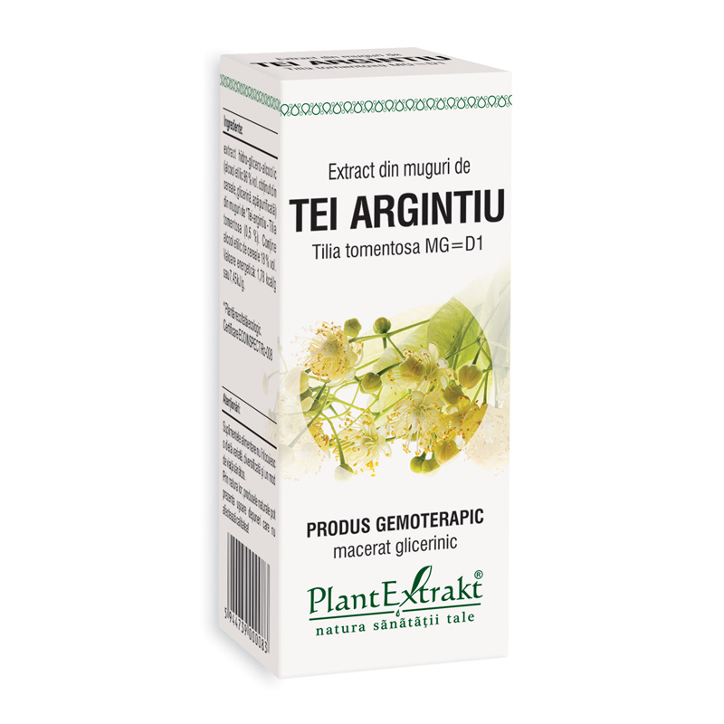 Extract din muguri de tei argintiu - Tilia Tomentosa (50 ml), Plantextrakt