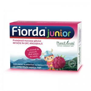 Fiorda Junior - aroma de zmeura (15 comprimate pentru supt), Plant extract