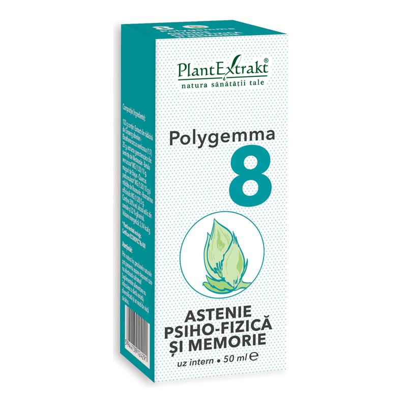 Polygemma 8 - Astenie psiho-fizica si memorie (50 ml), Plantextrakt
