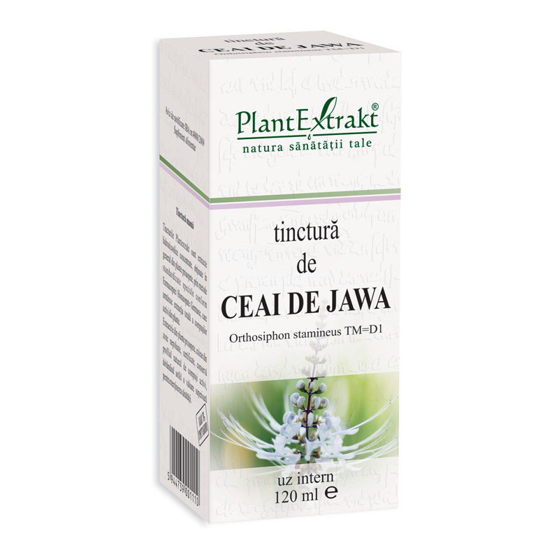 Tinctura de ceai de jawa - Orthosiphon Stamineus TM=D1 (120 ml), Plantextrakt