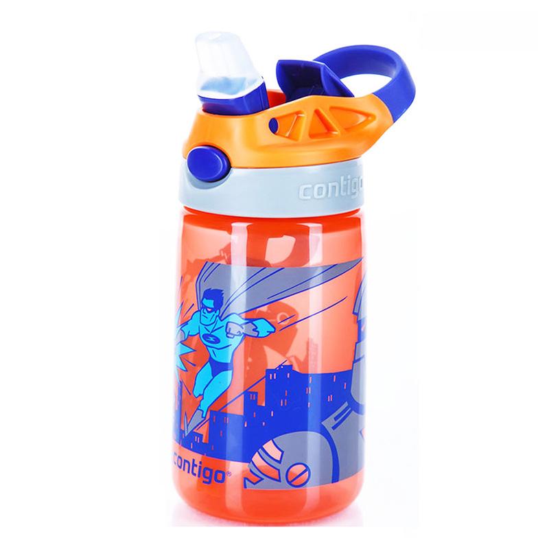 Sticla de apa pentru copii Contigo Gizmo Flip 420 ml nectarine superhero