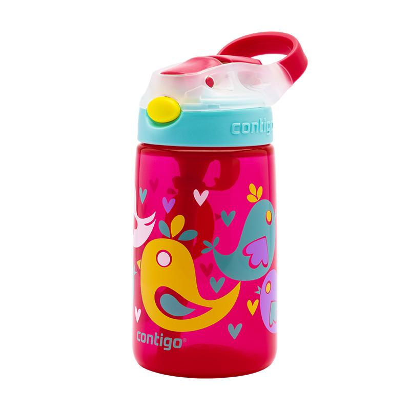 Sticla de apa pentru copii Contigo Gizmo Flip 420 ml cherry blossom