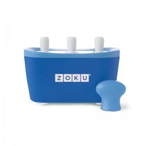 Dispozitiv pentru preparare inghetata 3 incinte Zoku ZK101 albastru