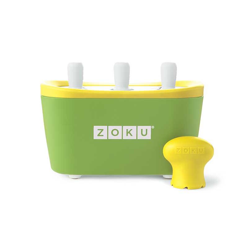 Dispozitiv pentru preparare inghetata 3 incinte Zoku ZK101 verde