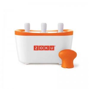 Dispozitiv pentru preparare inghetata 3 incinte Zoku ZK101 alb