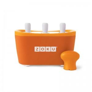 Dispozitiv pentru preparare inghetata 3 incinte Zoku ZK101 portocaliu