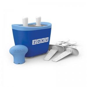 Dispozitiv pentru preparare inghetata 2 incinte Zoku ZK107 albastru
