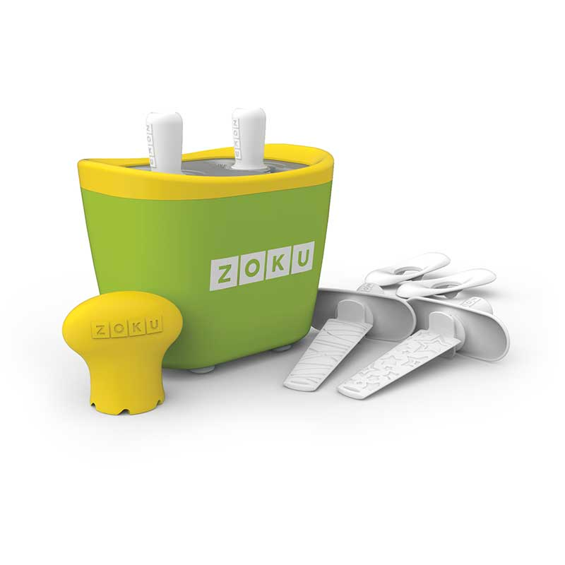 Dispozitiv pentru preparare inghetata 2 incinte Zoku ZK107 verde