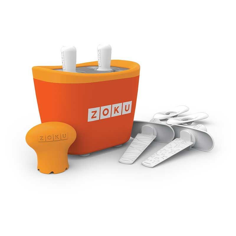 Dispozitiv pentru preparare inghetata 2 incinte Zoku ZK107 portocaliu