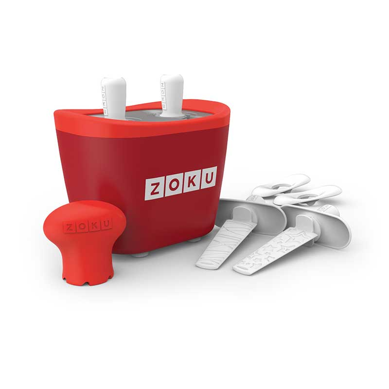 Dispozitiv pentru preparare inghetata 2 incinte Zoku ZK107 rosu