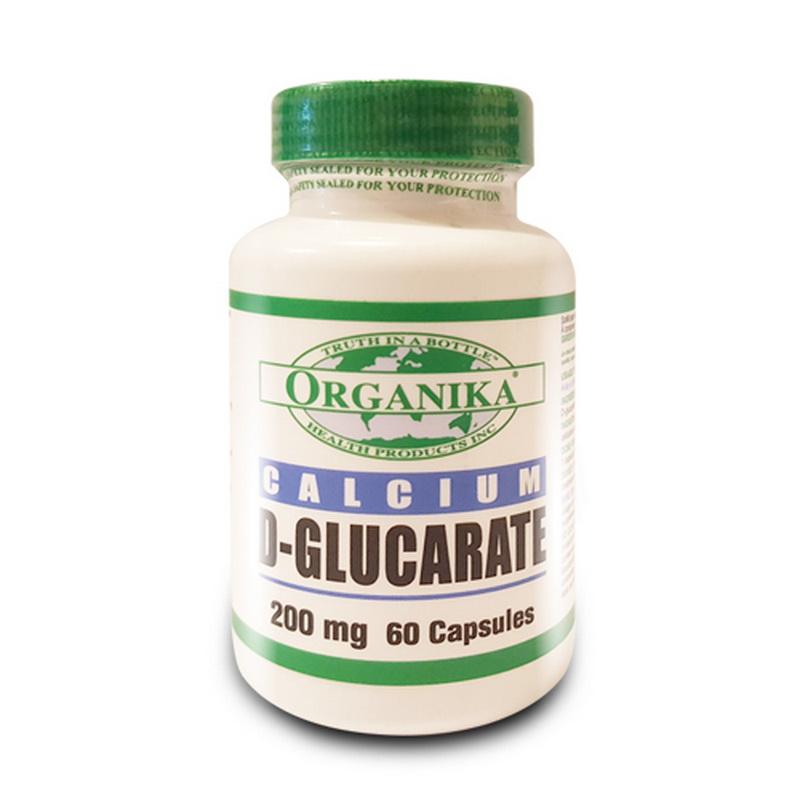 Calciu D'Glucarat 200 mg (60 capsule), Organika Canada