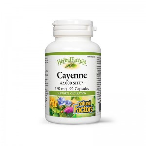 Cayenne Extract din ardei iute - paprika 470 mg (90 capsule), Natural Factors