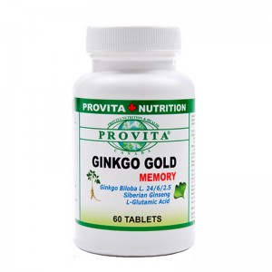 Ginkgo biloba Gold Memory 60 mg (60 tablete), Provita Nutrition