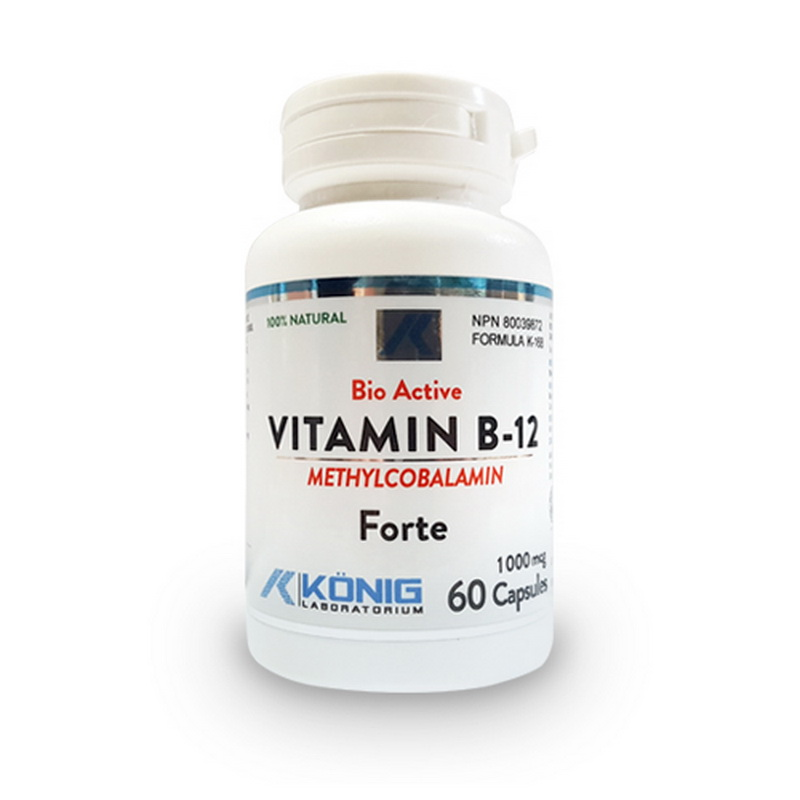 Vitamina B12 Metilcobalamina Forte 1000 mcg (60 capsule), Konig Laboratorium