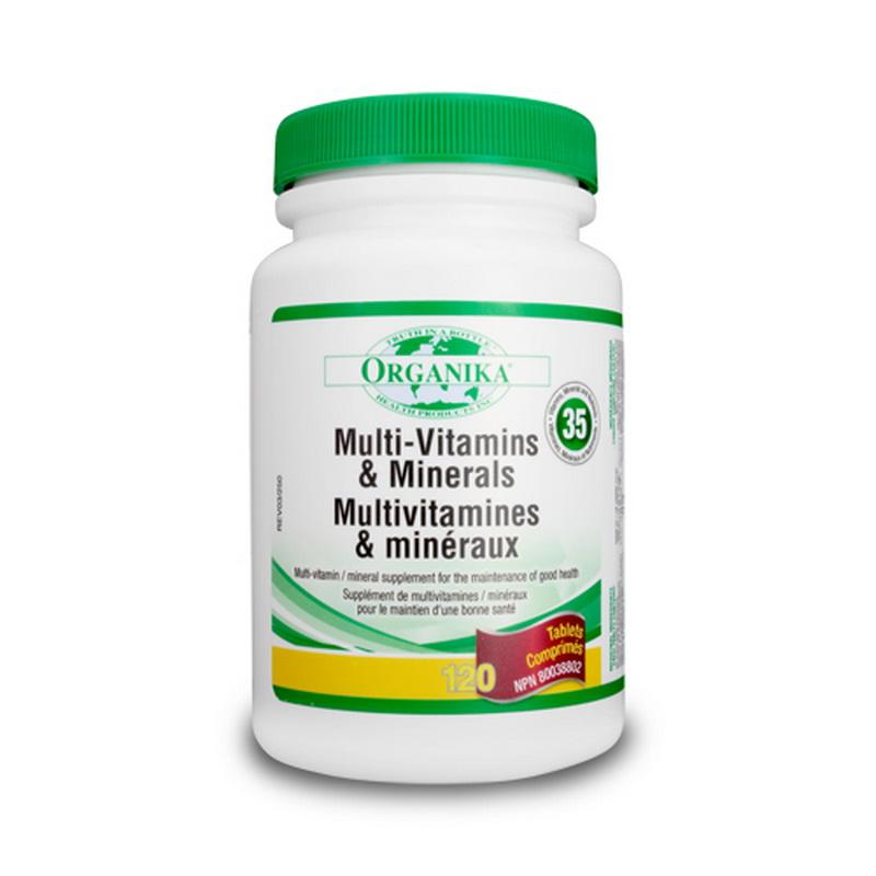Super multivitamine, minerale si nutrienti (120 tablete), Organika Canada