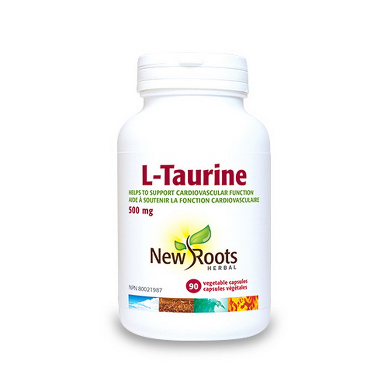 L-Taurina 500 mg (90 capsule), New Roots