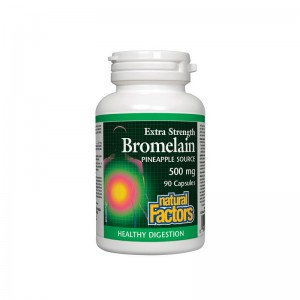 Bromelaina forte 500 mg (90 capsule), Natural Factors