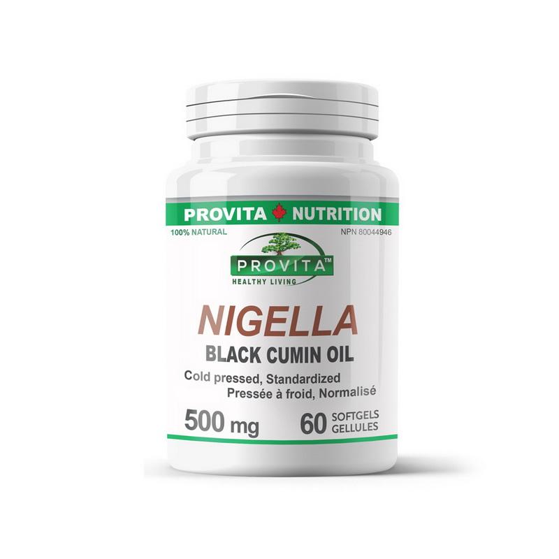 Nigella Ulei de chimen negru 500 mg (60 capsule), Provita Nutrition