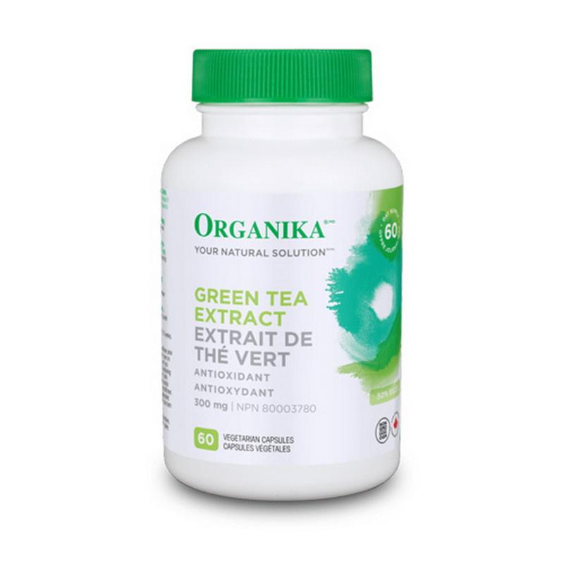 Extract concentrat de ceai verde 300 mg (60 capsule), Organika Canada