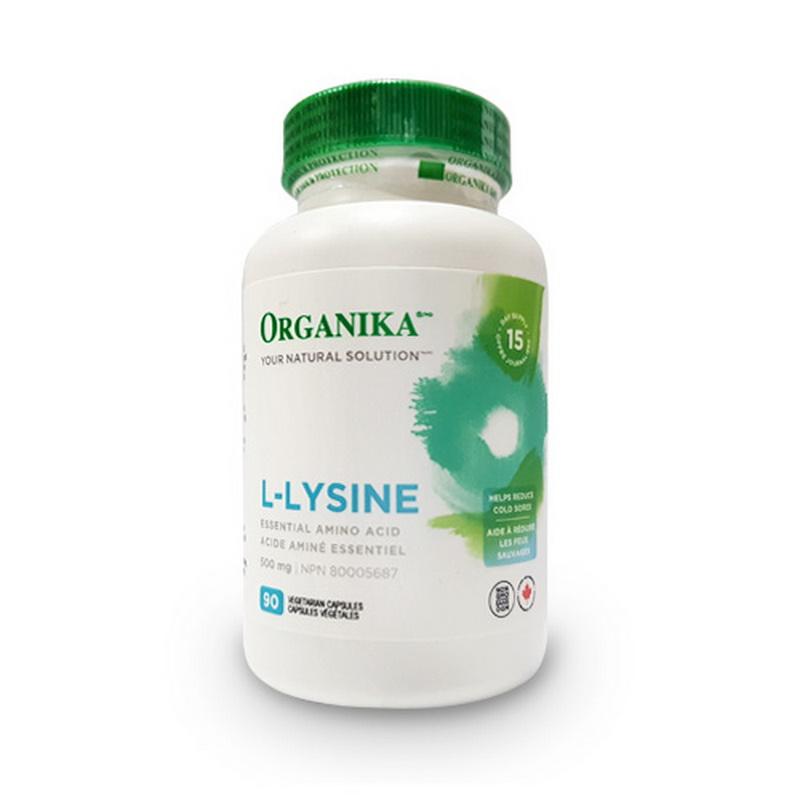 L-Lizina 500 mg (90 capsule), Organika Canada