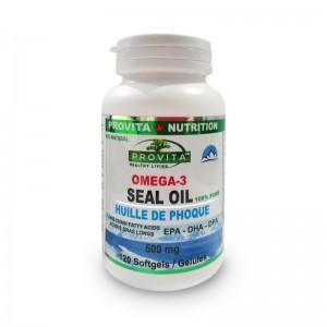 Omega-3 Ulei de foca 500 mg (120 capsule), Provita Nutrition