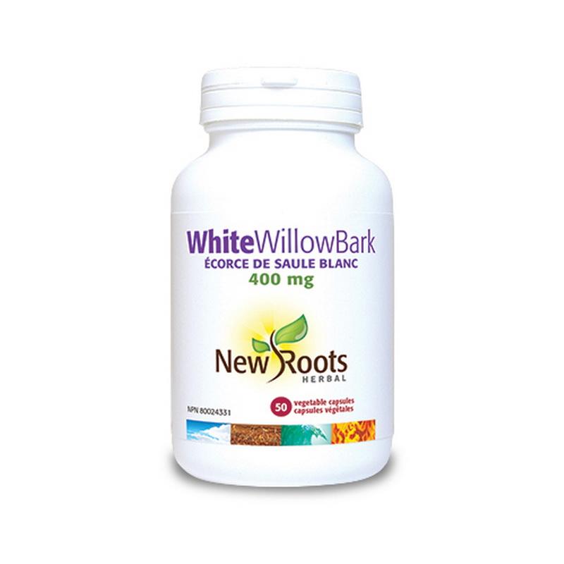 White Willow Bark Aspirina naturala 400 mg (50 capsule), New Roots