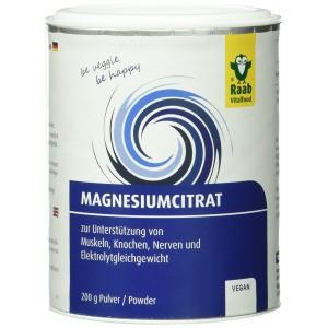 Citrat de magneziu pudra naturala (200 grame), Raab Vitalfood