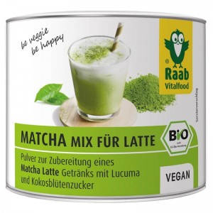 Matcha mix Latte bio (90 grame), Raab Vitalfood
