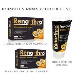 Formula Renartrho 3 luni (Renarthro x 60 capsule, Renarthro x 30 capsule, Renarthro Ice Gel)