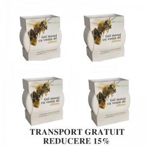 Pachet economic 4 X Crema cu venin de albine (4 X 200 ml), Biomedicus