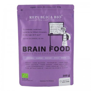 Brain Food pulbere functionala ecologica (200 grame), Republica Bio